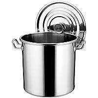 NQFL GWDZX Suppentopf Antihaft-Suppe Kochtopf Suppenfässer Edelstahl 304 Dick Hotel Küche,OneColor-37*35cm