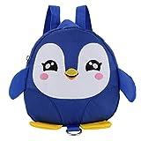 OdeJoy Kinder Baby Mädchen Jungen Karikatur Tier Rucksack Kleinkind Schule Tasche Kind Schön Pinguin Schulranzen Rucksack Segeltuch Schulrucksack Students Bags (Blau,1 PC)