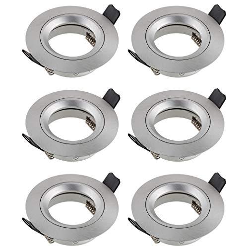 SEBSON 6x Foco empotrable techo, redondo, aluminio, incl. GU10 casquillo (LED /...