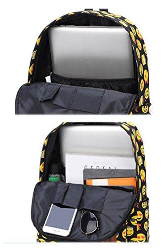 Artone Mh Serie Unisex-Adulto Universo Nylon Casuale Daypack Emoji nero
