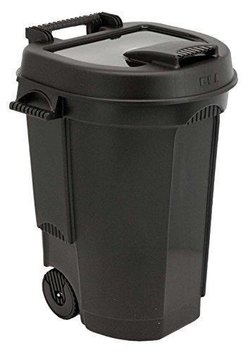 Fahrbarer Abfallbehälter | 110 Liter | Schwarz (Mülltonnen Mit Rädern)