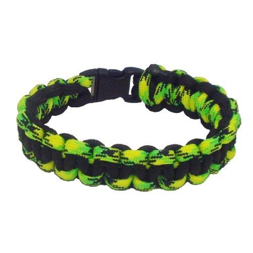 RootsBay Solomon Bar / Cobra Weave 550 Paracord Überlebens-Armband (Select Größe mindestens 1 Zoll größer als Handgelenkgröße) (Jamaica 1, 7.5 zoll) (Rasta Marley Tragen Bob)