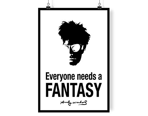 Andy Warhol - Everyone Needs A Fancy White Background A4 digital kunst drucken mauer dekor poster Kunstdrucke -