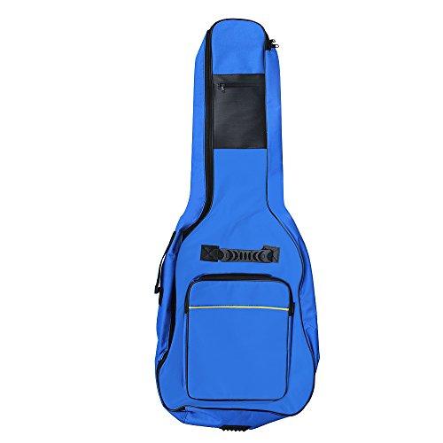 Funda para guitarra acústica y clásica de tamaño completo de Accessotech, con acolchado y asa, azul