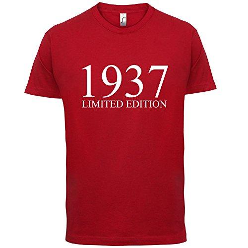 1937 Limierte Auflage / Limited Edition - 80. Geburtstag - Herren T-Shirt - 13 Farben Rot