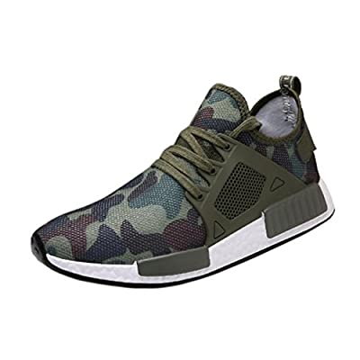 BESTOPPEN Mens Running Shoes Camouflage,Sports Trainers Breathable Non Slip Shoes Outdoor Jogging Sneakers Fashion Athletic Shoes Casual Shoes Size 6 6.5 7 8 9 9.5