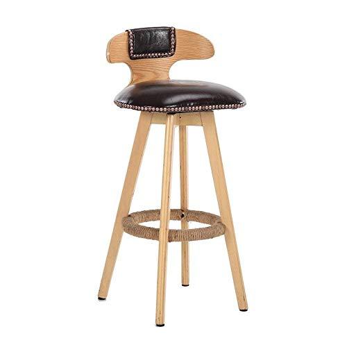 - Brown-leder-counter (LSLMCS Barhocker Esszimmerstuhl Hochstühle Hocker PU Leder Sitz Bar Counter Stool Rückenlehne Stuhl (Color : Brown, Size : 42x42x60cm))