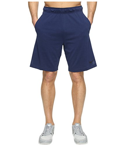Nike-basketball-shorts-blau (Nike Herren M NK DRI-FIT Cotton Shorts, Binary Blue/Black, M)