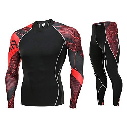 Odjoy-fan-uomo asciugatura rapida alta qualità sport in alto + pantaloni base yoga completo da abbigliamento ciclismo set sportivo suit manica lunga jersey pantaloni traspirante rapida