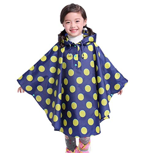 Ankidz Girls Kids Hooded Rain Coat Printed Ponchos Jacket Raincoats Raincoats