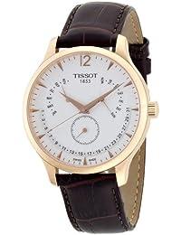 Tissot–Reloj de pulsera analógico cuarzo piel t063.637.36.037.00