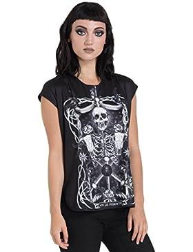 Jawbreaker T Shirt da Donna Muerte Tarot Lady (Nero)
