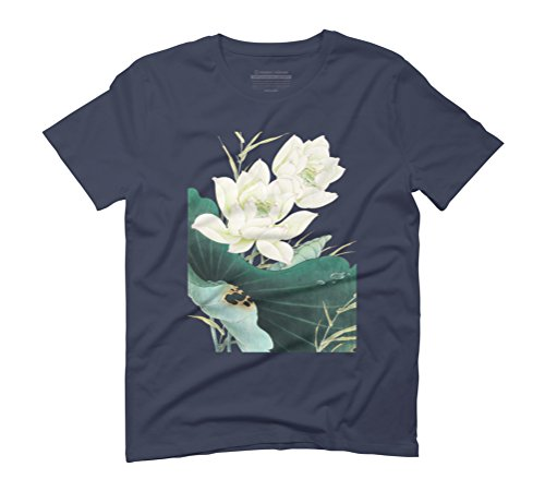 Lotus Melody Men's Graphic T-Shirt - Design By Humans Navy