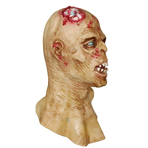 molezu Horror Mask  Zombie Mask  Latex Biochemical Monster Mask Suit for Costume Party Halloween