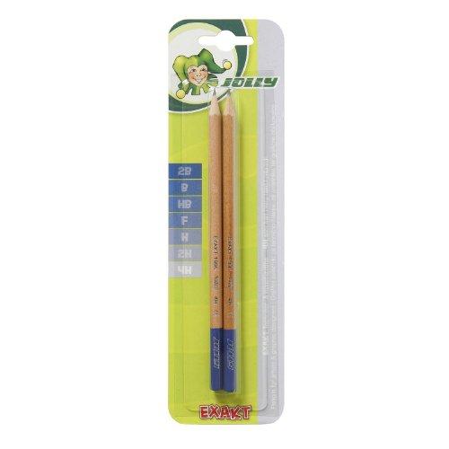 Jolly Exakt Bleistift, Härtegrad 4H, graphit/natur (2 Stück)