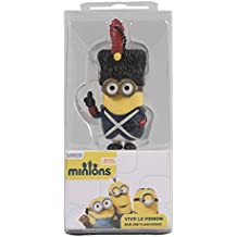 Tribe Los Minions Despicable Me Vive Le Minion - Memoria USB 2.0 de 8 GB Pendrive Flash Drive de goma con llavero, multicolor