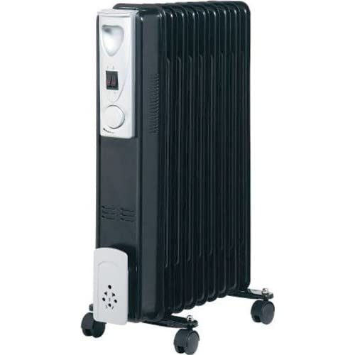 41wi2lm8tvL. SS500  - Kingavon BB-OR111 9-Fin 2kW Slimline Oil Filled Radiator - Black