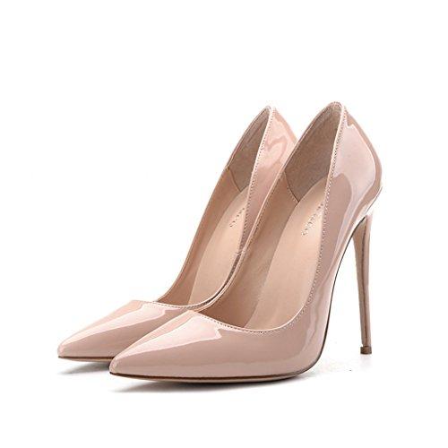 Single shoes - female Super high-heeled sexy gut mit einem einzelnen Schuhen flacher Mund mit hohen 8cm/10cm/12cm Light Farbe Braut Schuhe (Farbe : Height 12cm, größe : 36-Shoes long230mm)