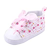 Etopfashion Toddler Baby Kids Girls Soft Sole Crib Infant Newborn Floral Casual Shoes Pink