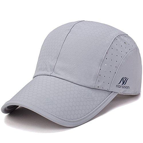 KimTime verstellbar Mütze Schnelltrocknende Schirmmütze UV-Schutz Kappe für Herren und Damen Sommer