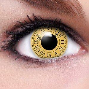Sharingan Kontaktlinsen Date a Live in gelb inkl. Behälter - Top Linsenfinder Markenqualität, 1Paar (2 ()