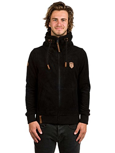 Naketano Male Zipped Jacket Der Gedudelte V Black
