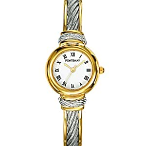 Fontenay - UB2357BE - Montre Femme Cable - Quartz Analogique - Fond Blanc - Bracelet Rigide Bicolore