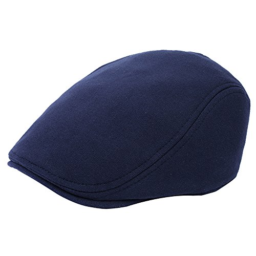 WETOO WETOO Schirmmütze Herren Schiebermütze Schwarz Winter Warm Flatcap Newsboy Cap