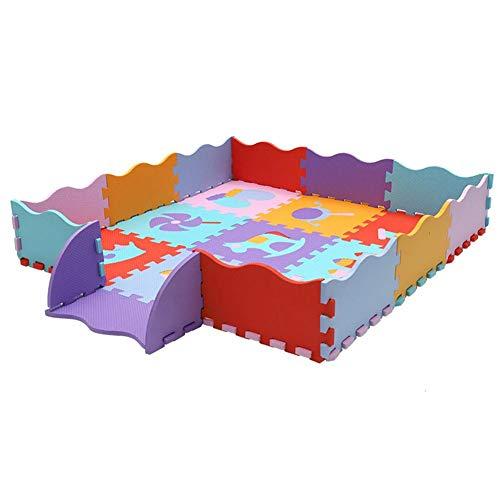 Hearthrousy Juegos de Piso para Niños Puzzle Estera Alfombra Manta de Juegos para Bebés de Jardín de Infantes a Prueba de Humedad y de Dibujos Animados Alfombrillas de Espuma 30x30cm