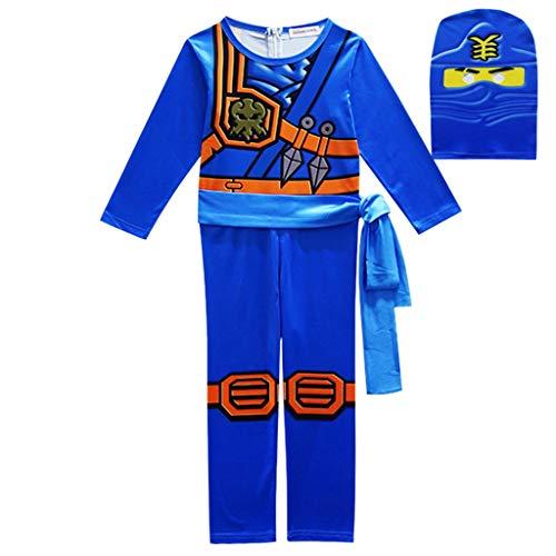 Kostüm Dress Blue Belle - DMMDHR HalloweenParty Costumes Boys Clothes Superhero Cosplay Ninja Costume Girls Halloween Costume Party Dress Up Kids Dresses for Boys,Blue,4T