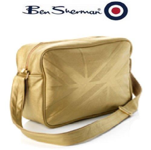 ben-sherman-675455-borsa-a-tracolla-per-scuola-palestra-motivo-bandiera-britannica-colore-oro