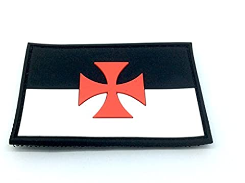 Maltese Cross Knights Templar PVC Airsoft Morale Patch