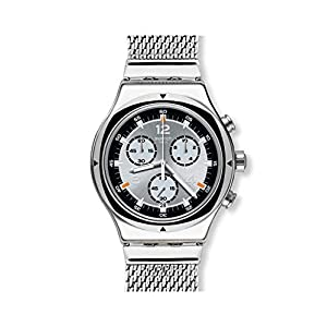 Swatch Mens Chronograph Quartz Watch with Stainless Steel Strap YVS453MA
