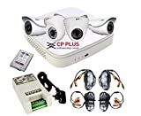 #9: CP Plus Intelli Eye Full HD CCTV Camera Kit 2 2mp Dome, 2 2mp Bullet Camera, 1TB Hard Disk, Power Supply, 4 18m Cable With Connectors, 4 DC Pins