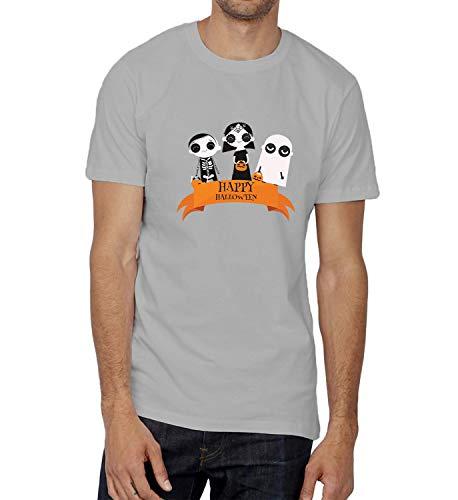 Happy Halloween Scary Kids Tricks Or Treats_006237 T-Shirt Birthday Ugly Christmas Shirt Gift for Him 2XL Man Grey