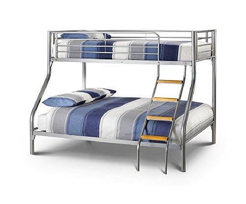 Happy Beds Bunk Bed Atlas Triple Sleeper Solid Metal With 2x Memory