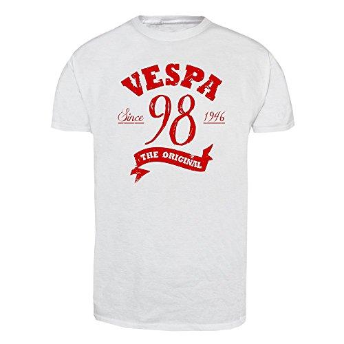 """Vespa """"98"""" T-Shirt Weiß"""