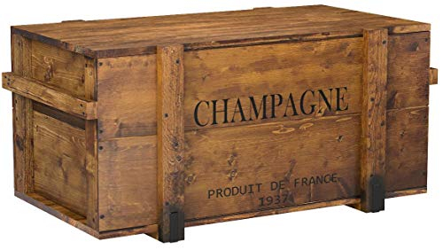 "Uncle Joe´s Holzkiste, Truhentisch ""Champagne"", vintage, shabby chic, 98x55x46cm - 5"