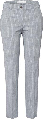BRAX FEEL GOOD Maron - Damenhose GREY MELANGE 36 (Melange Front Flat Pant)