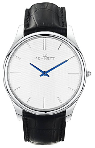 Mens Kennett Kensington Silver White Black Watch KSILWHBK