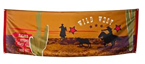 Boland 54310–Banderole Banner Polyester Wild West, 220x 74cm, multicolore
