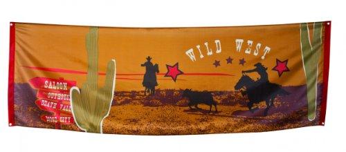 Boland 54310-Banner Banner Polyester Wild West, 220x 74cm, Mehrfarbig