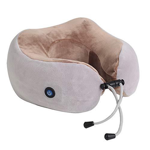 Masajeador de cuello, almohada de masaje tipo U, protector eléctrico del cuello de carga, espina dorsal...