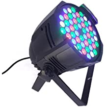 Eyourlife 1PC Aluminio 162W / 54x3W 54 Canales LED RGB luz de escenario profesional para Bares Fiesta Discoteca Espectáculo Disco DJ partido boda fiesta de Navidad festivos Enchufe de UE