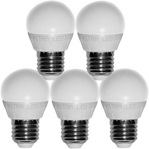 E27E14GU10LED, bianco caldo 4050W a incandescenza 5001075lumen di ricambio 6712Watt a goccia riflettore lampadina a risparmio energetico Mini 5Pack, E27, 6.02 wattsW, 220.00 voltsV