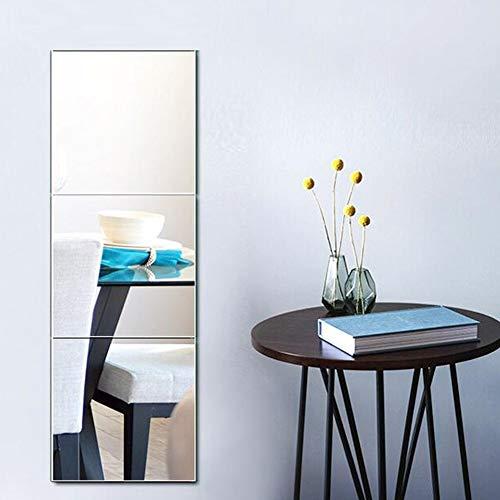 Klar Abgeschrägten Glas Licht (Ankleidespiegel Ganzkörperspiegel Rahmenloser Kombinationswandprüfspiegel Bad Kosmetikspiegel, dreiteilig 0525)