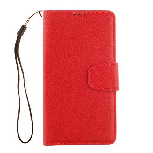 LG D331 Hülle, LG L Bello Hülle, Lifeturt [ Rot ] Bookstyle Handyhülle Flip Case [Premium PU Leder] Ledertasche Brieftasche Schutz Handytasche mit Standfunktion und Kredit Kartenfächer Schutzhülle Etui für LG L Bello D335 D337 D331