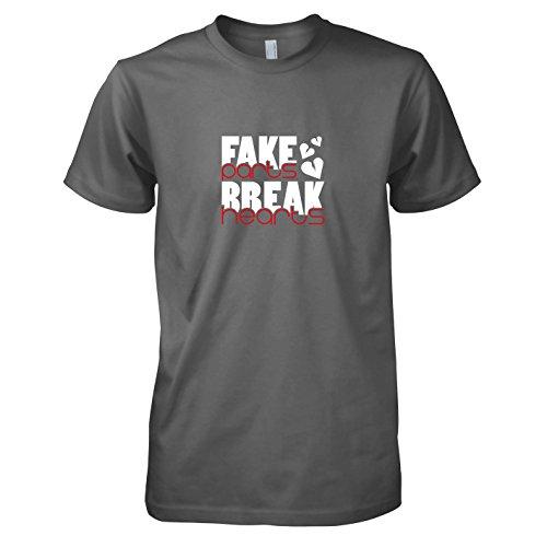 TEXLAB - Fake Parts - Herren T-Shirt Grau