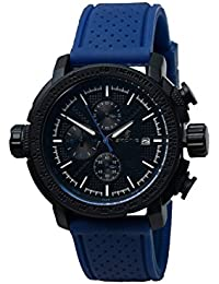 Skone 5145E-4 Chronograph Black Dial Resin Strap Wrist Watch / Casual Watch - For Men's