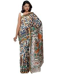 48e81e66f12855 Unnati Silks Women Pure Kalamkari Cotton Saree With Blouse piece from the  Weavers of Andhra Pradesh